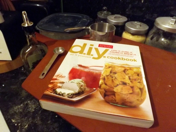 The DIY Cookbook in our kitchen