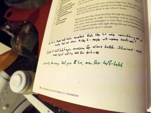 Notes in the DIY Cookbook