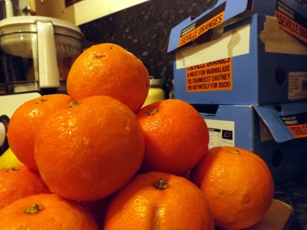 Seville oranges ready for marmalade