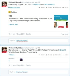 Tweets from 11 April 2014