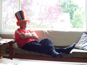My father, who is Dutch.