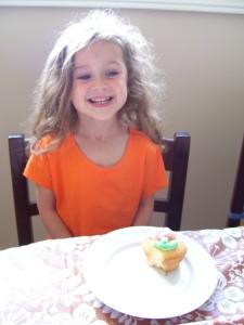 First birthday present: an orange T-shirt