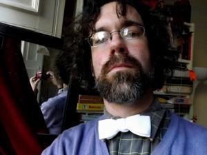 The author's white tie