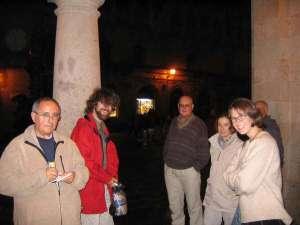 With pilgrims in Santiago