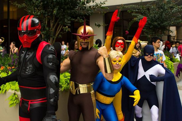 Cosplay dressed as characters from Marvel's The New Warriors