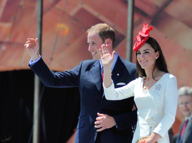 Prince William and Kate, Duke and Duchess of Cambridge, on a visit to Canada