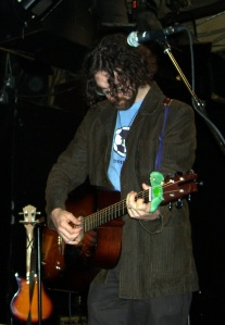 Michael Munnik playing his original guitar at Zaphod Beeblebrox